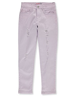 Girls' Rip Design Twill Pants by Dreamstar in Lilac