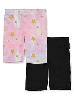 Girls' 2-Pack Bike Shorts by Dreamstar in Black multi