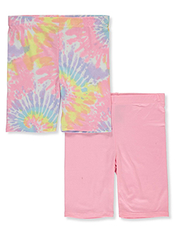 Girls' 2-Pack Bike Shorts by Dreamstar in Pink/multi