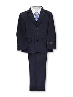 "Little Boys' ""C-Suite"" 5-Piece Suit by Kids World in Navy"