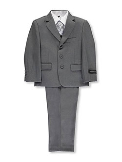 "Little Boys' ""In Charge"" 5-Piece Suit by Kids World in Gray"