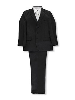 "Big Boys' ""Power Play"" 5-Piece Suit by Kids World in Black"