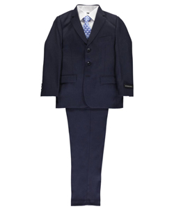 "Big Boys' ""C-Suite"" 5-Piece Suit by Kids World in Navy"