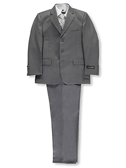 "Big Boys' ""In Charge"" 5-Piece Suit by Kids World in Gray"