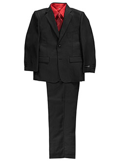 "Big Boys' Husky ""Cambria"" 5-Piece Suit by Kids World in Black"