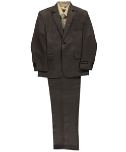 "Big Boys' Husky ""Burnham"" 5-Piece Suit by Kids World in Brown"