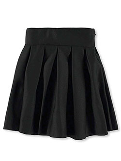 Girls' Pleated Scuba Skirt by Pink Butterfly in black, fuchsia, light pink and silver