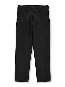 Boys' Flat Front Dress Pants by Vittorino in black, charcoal gray, white and more, Boys Fashion