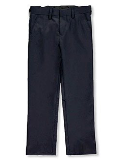 Boys' Flat Front Dress Pants by Vittorino in black, gray, navy and royal blue