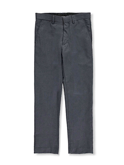 Boys' Flat Front Dress Pants by Vittorino in black, charcoal gray, white and more