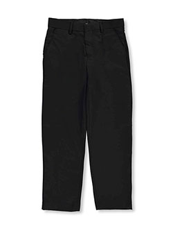 Slim Fit Dress Pants in black, charcoal gray, white and more, Boys Fashion