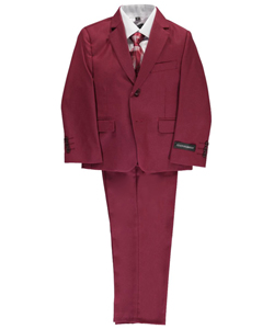 5-Piece Suit by Kids World in Burgundy, Boys Fashion