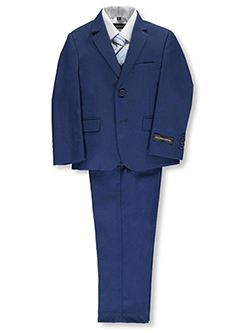 5-Piece Suit by Kids World in Medium blue, Boys Fashion