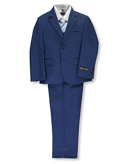 "Little Boys' ""Brady"" 5-Piece Suit by Kids World in Medium blue"