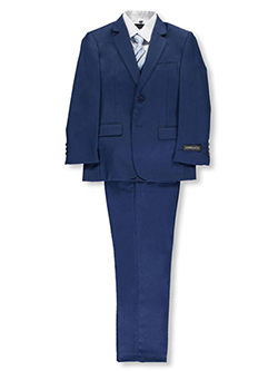 "Big Boys' ""Brady"" 5-Piece Suit by Kids World in Medium blue"