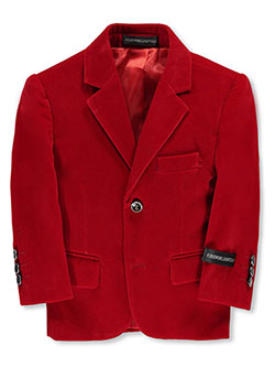 Baby Boys' Velvet Blazer by Kids World in Red