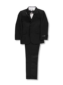 "Big Boys' ""Best-Dressed"" 5-Piece Suit by Kids World in Black"