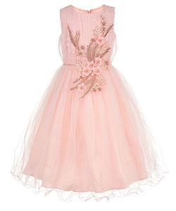 Pink Butterfly Little Girls' Dress (Sizes 4 – 6X) - CookiesKids.com