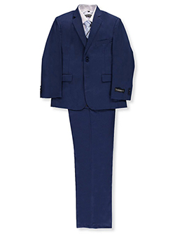 Big Boys' Husky 5-Piece Suit by Kids World in Medium blue