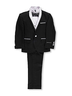 Little Boys' Toddler 5-Piece Tuxedo by Kids World in Black/white
