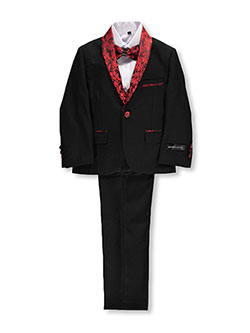Little Boys' Toddler 5-Piece Suit by Kids World in Black