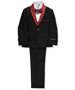 Big Boys' 5-Piece Suit by Kids World in Black