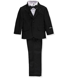 Baby Boys' 5-Piece Tuxedo by Kids World in Black