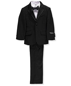 Little Boys' Toddler 5-Piece Tuxedo by Kids World in Black