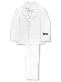 Big Boys' 5-Piece Suit by Kids World in White