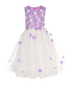 Pink Butterfly Girls' Dress - CookiesKids.com