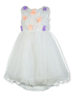 Baby Girls' Tulle Flower Dress by Pink Butterfly in Off white