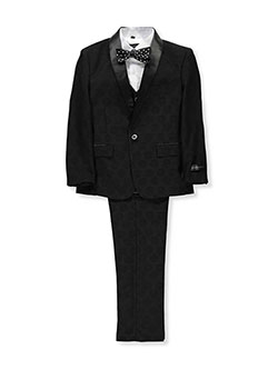 Boys' 5-Piece Tuxedo by Kids World in Black