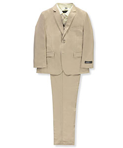 Boys' 5-Piece Suit by Kids World in Tan, Boys Fashion
