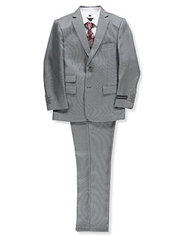 Boys' 5-Piece Suit Pants Set by Kids World in Gray, Boys Fashion