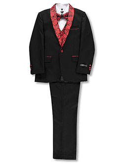 Boys' 5-Piece Suit by Kids World in Red/black