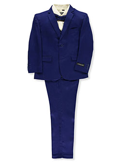 Boys' 5-Piece Suit by Kids World in Royal blue