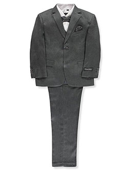 Boys' 5-Piece Suit by Kids World in Gray