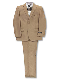 Boys' 5-Piece Suit by Kids World in Caramel
