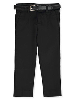 Boys' Belted Dress Pants by Alberto Danelli in Black