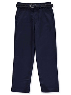 Skinny Fit Belted Dress Pants by Alberto Danelli in Navy