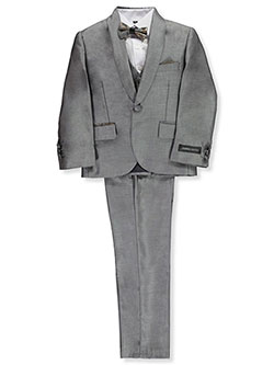 Boys' Glitter Roses 5-Piece Suit by Kids World in Silver