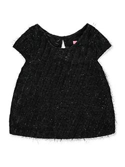 Girls' Eyelash Glitter Top by Pink Butterfly in black and red