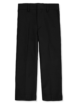 Slim Fit Dress Pants in Black, Boys Fashion
