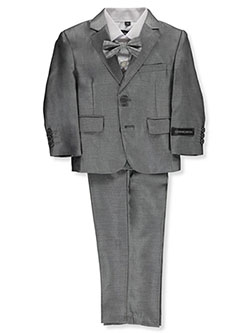 Baby Boys' 5-Piece Suit Pants Set by Kids World in Silver