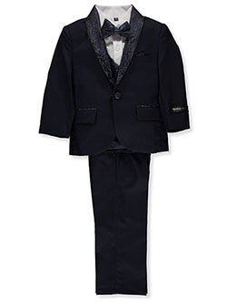 Baby Boys' 5-Piece Suit Pants Set by Kids World in Navy