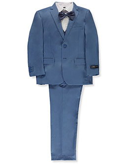 Boys' 5-Piece Suit Pants Set by Kids World in Blue