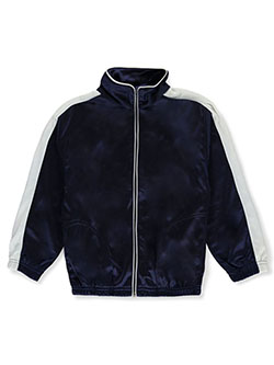 Boys' Trico Track Jacket by Matrix in navy and royal blue, Boys Fashion