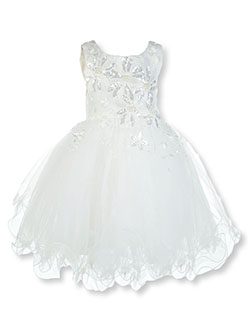 Baby Girls' Sequined Pearl Dress by Pink Butterfly in Ivory