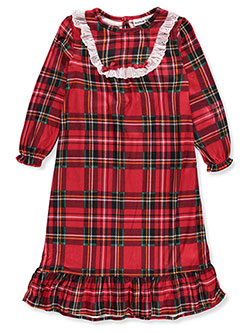 Girls' Flannel Nightgown by Komar Kids in Plaid