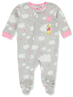 Winne The Pooh Baby Girls' Footed Coverall by Disney in Gray